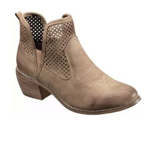 Natural Reflections Taupe Reena Ankle Booties 7.5